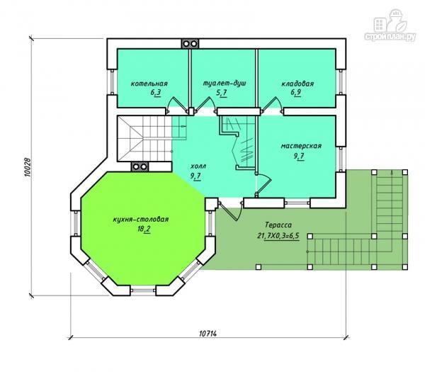 Фото 2: проект комбинированный двухэтажный дом с мастерской
