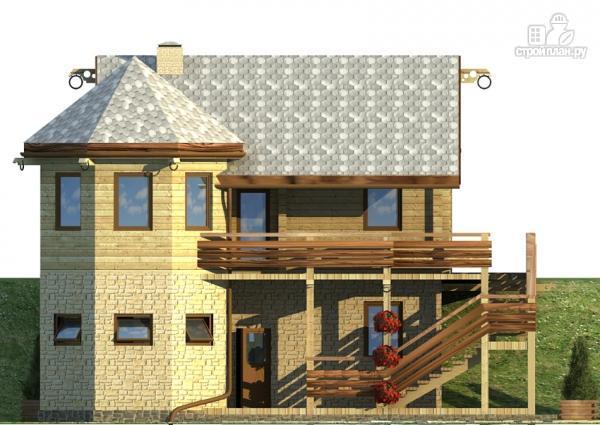 Фото 7: проект комбинированный двухэтажный дом с мастерской