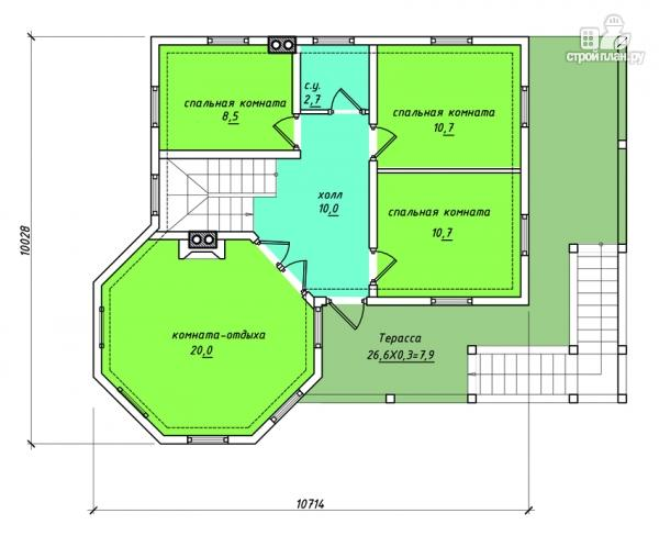 Фото 3: проект комбинированный двухэтажный дом с мастерской