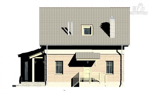 Фото 7: проект дом с террасой, эркером и мансардным этажом