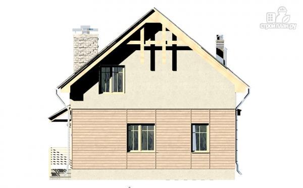 Фото 9: проект дом с террасой, эркером и мансардным этажом