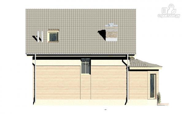 Фото 5: проект дом с террасой, эркером и мансардным этажом
