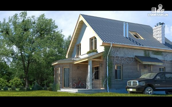 Фото 6: проект дом с террасой, эркером и мансардным этажом