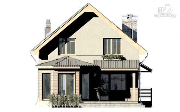 Фото 4: проект дом с террасой, эркером и мансардным этажом