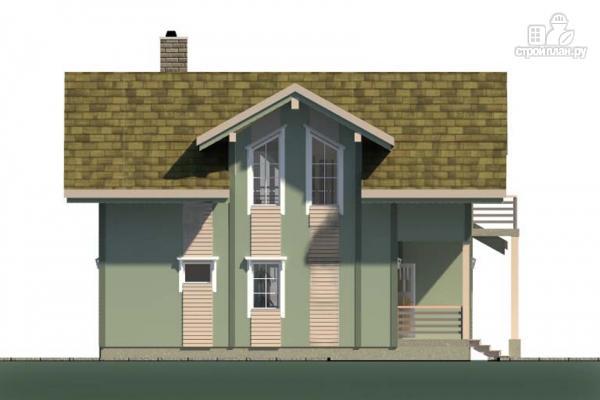 Фото 6: проект дом с террасой, балконом и вторым светом в эркере гостиной