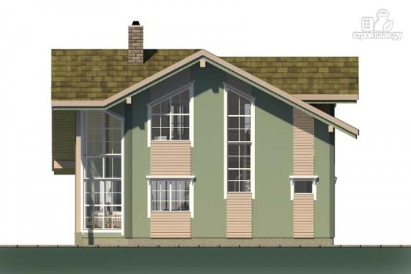 Фото 4: проект дом с террасой, балконом и вторым светом в эркере гостиной
