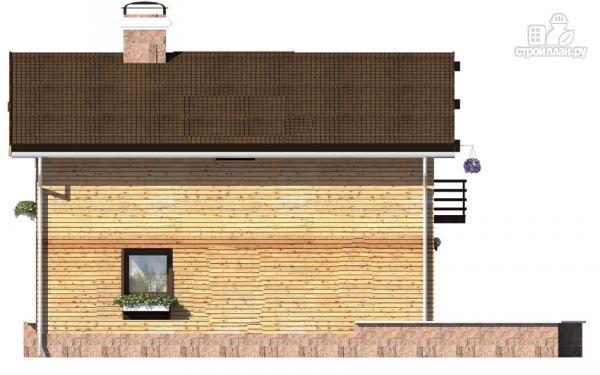 Фото 5: проект дом в полтора этажа с длинной террасой и балконом