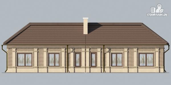 Фото 5: проект одноэтажный спаренный дом с парадным крыльцом