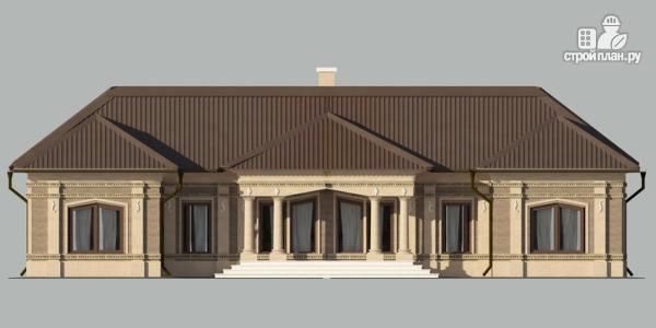 Фото 3: проект одноэтажный спаренный дом с парадным крыльцом
