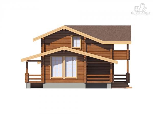 Фото 7: проект дом из клееного бруса  с балконом и террасой
