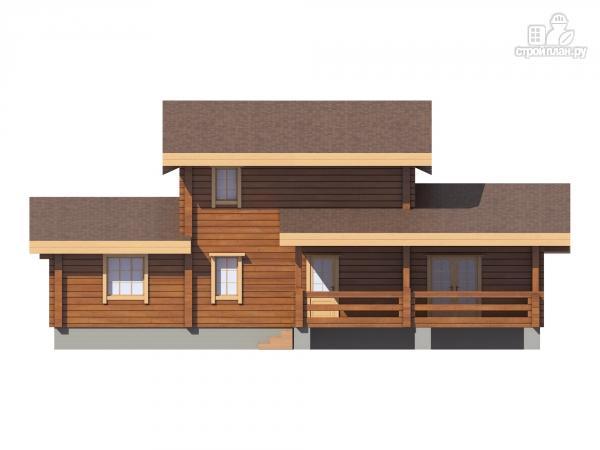 Фото 6: проект дом из клееного бруса  с балконом и террасой