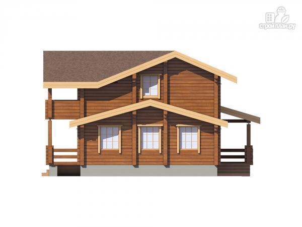 Фото 5: проект дом из клееного бруса  с балконом и террасой