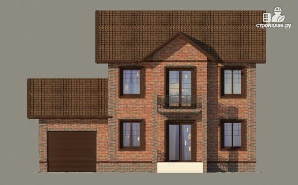 Фото 6: проект дом с балконом и гаражом