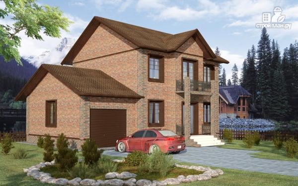 Фото: проект дом с балконом и гаражом