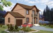 Проект дом с балконом и гаражом