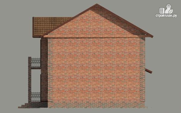 Фото 4: проект дом с балконом и гаражом