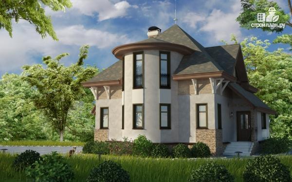 Фото: проект дом с верандой в эркере