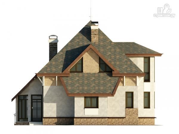 Фото 6: проект дом с верандой в эркере