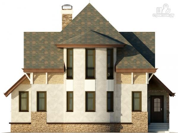 Фото 7: проект дом с верандой в эркере