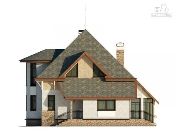Фото 4: проект дом с верандой в эркере