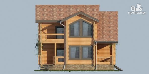 Фото 4: проект деревянный дом с балконами и террасами