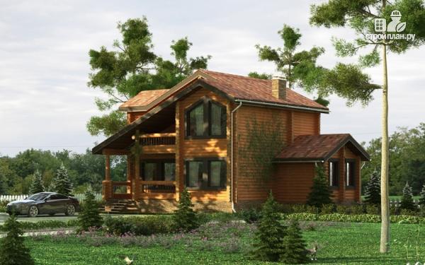 Фото 8: проект деревянный дом с балконами и террасами