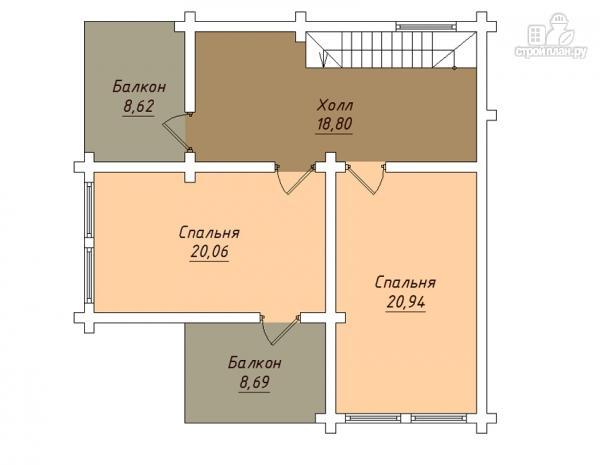 Фото 3: проект деревянный дом с балконами и террасами