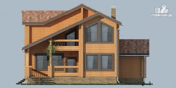 Фото 7: проект деревянный дом с балконами и террасами