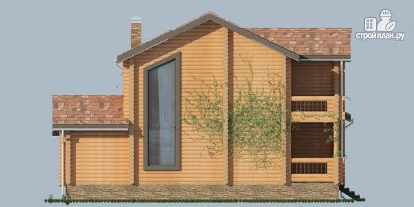 Фото 6: проект деревянный дом с балконами и террасами