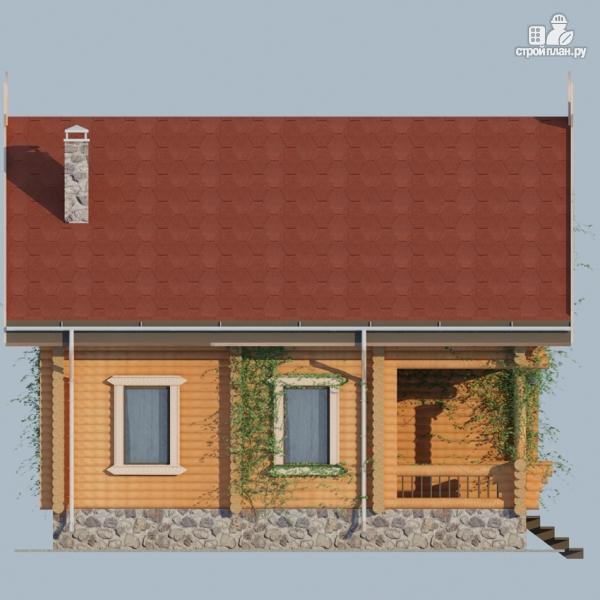 Фото 4: проект деревянный дом 10х10 с балконом и террасой