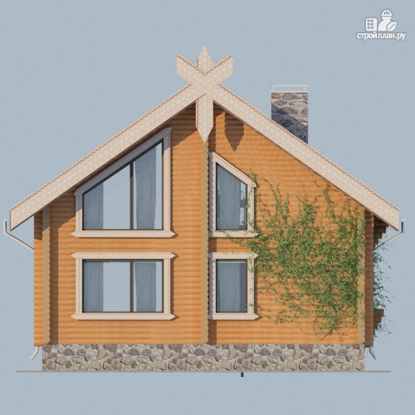 Фото 6: проект деревянный дом 10х10 с балконом и террасой