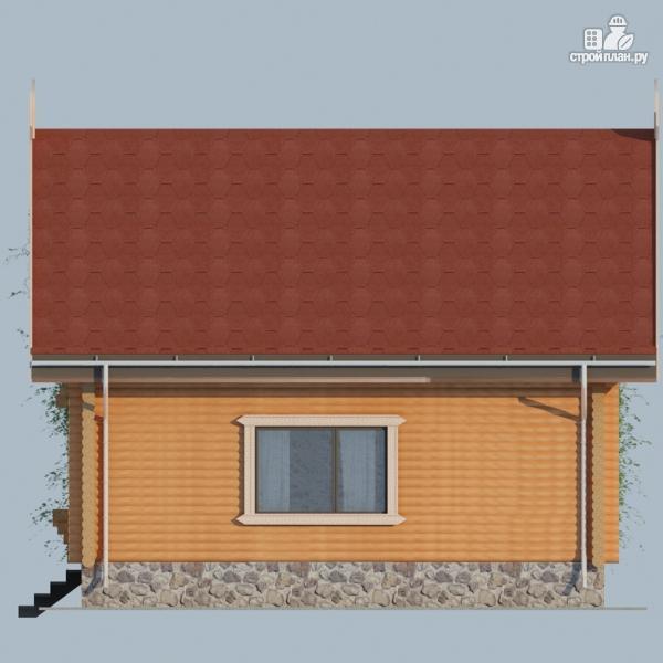 Фото 5: проект деревянный дом 10х10 с балконом и террасой
