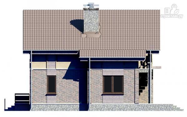Фото 4: проект дом с мансардным этажом и террасой