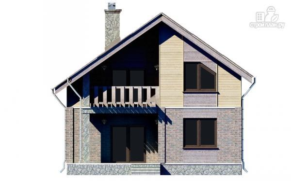 Фото 7: проект дом с мансардным этажом и террасой
