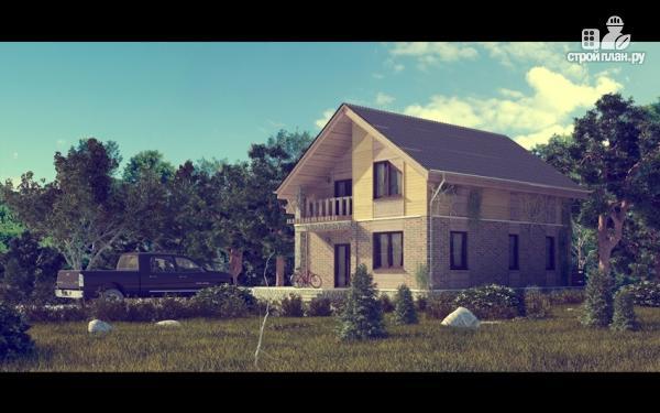 Фото 5: проект дом с мансардным этажом и террасой