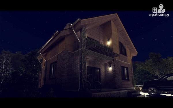 Фото 8: проект дом с мансардным этажом и террасой