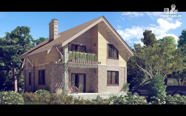 Фото: проект дом с мансардным этажом и террасой