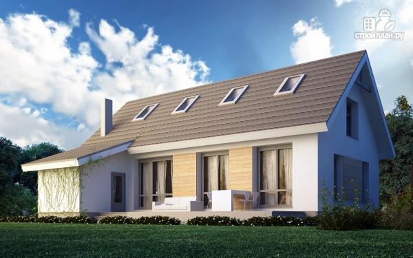 Фото: проект дом из поризованного камня с сауной и мансардным этажом