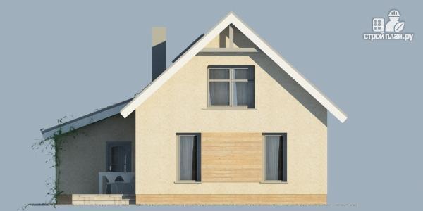 Фото 4: проект дом из поризованного камня с сауной и мансардным этажом