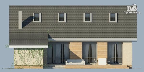 Фото 2: проект дом из поризованного камня с сауной и мансардным этажом