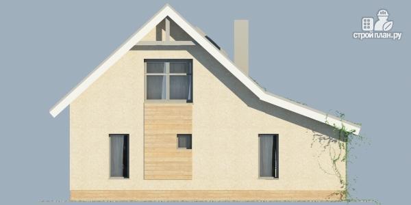 Фото 3: проект дом из поризованного камня с сауной и мансардным этажом