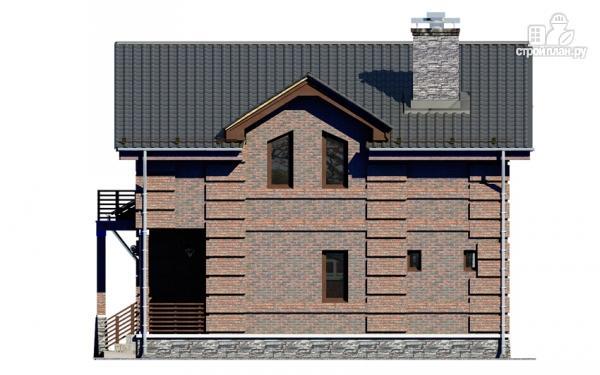 Фото 7: проект дом с террасой, маленьким балконом и вторым светом в эркере гостиной