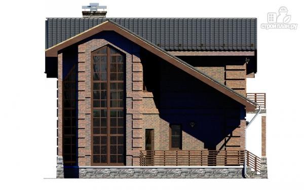 Фото 6: проект дом с террасой, маленьким балконом и вторым светом в эркере гостиной