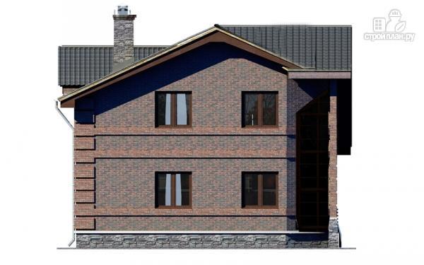 Фото 9: проект дом с террасой, маленьким балконом и вторым светом в эркере гостиной
