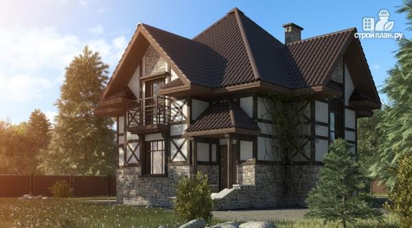 Фото: проект дом с тремя балконами
