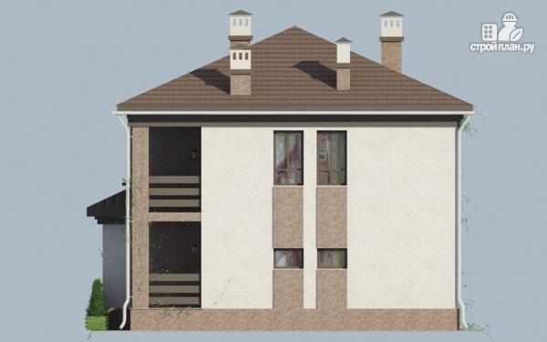 Фото 5: проект двухэтажный дом с балконом и террасой