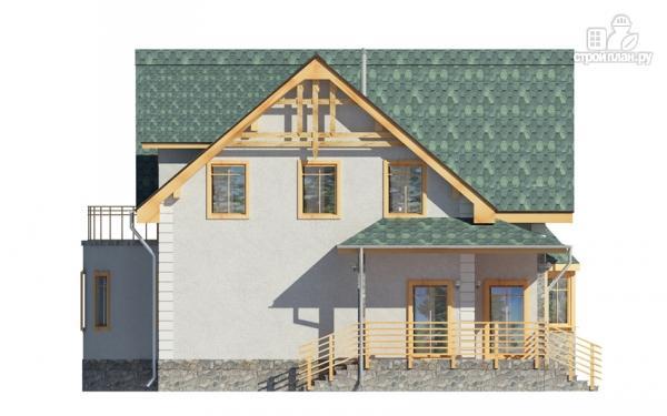 Фото 6: проект дом с балконом, террасой и эркером