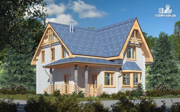 Фото: проект дом с балконом, террасой и эркером
