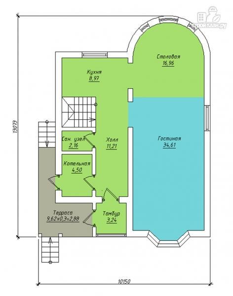 Фото 2: проект дом с балконом, террасой и эркером