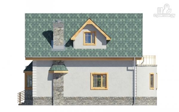Фото 4: проект дом с балконом, террасой и эркером